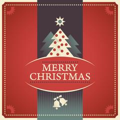 Retro Christmas poster.