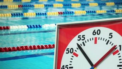 Sports Stopwatch in the Swimming  pool
