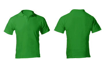 Men's Blank Green Polo Shirt Template