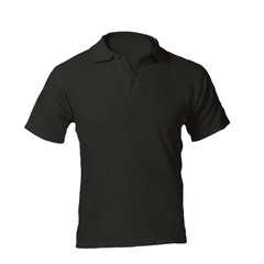 Men's Blank Black Polo Shirt Template