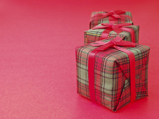 triple gift on red