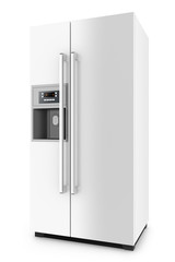 White fridge with side-by-side door system