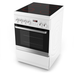 Modern white electrical cooker