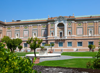 View on  Vatican Museum in Rome, Italy..