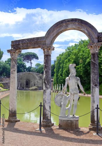 Poster Villa Adriana- ruins  in Tivoli near Rome, ..