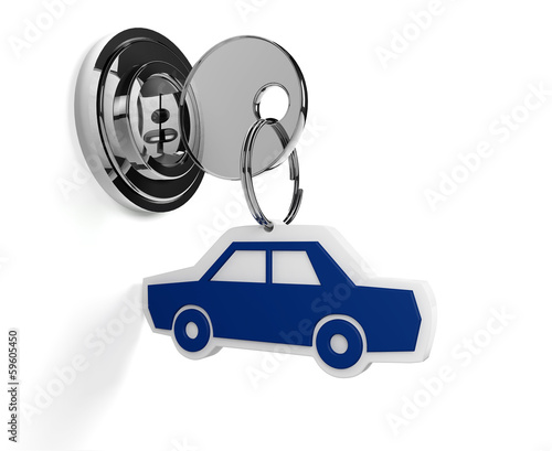 Lock with car