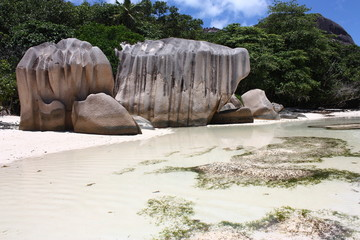 Spiaggia isola di La Digue