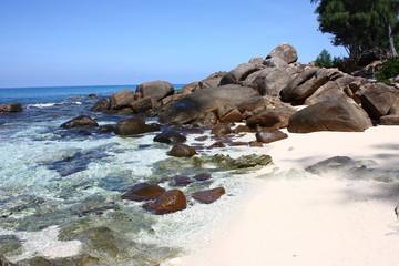 Spiaggia delle isole Seychelles