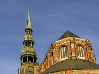 View on St.Peter's Cathedral, Riga, Latvia