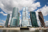 Cityscape of skyscrapers of Moscow City