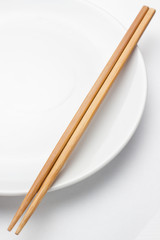 Chopstick with plate