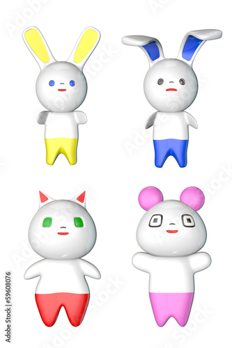 Japanese Kawaii Figures Loop with Matte