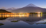 Mt. Fuji and Lake Kawaguchi in Japan