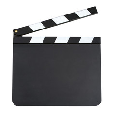 Blank movie production clapper board with copy space isolated