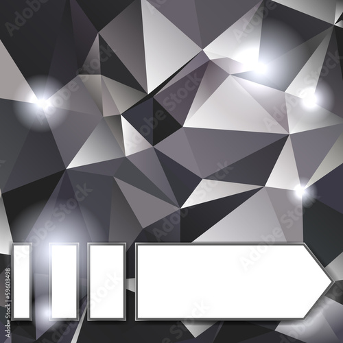 Crystal background with arrow