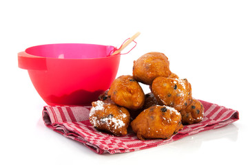 Baking Dutch traditional oliebollen