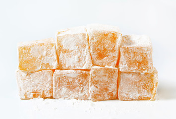 Mastic-flavored jelly cubes (Greek Turkish delight)