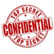 Top secret, confidential stamp