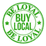Be loyal buy local stamp poster