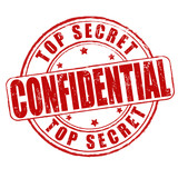 Top secret, confidential stamp