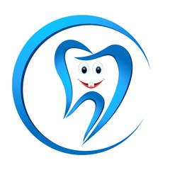 kleiner lächelnder Zahn