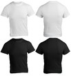 Men's Blank Black and White Shirt Template
