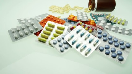 Stack of Pills Tablets Pharmacy Concept