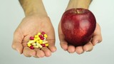 Medication or Healthy Diet Apple Choice