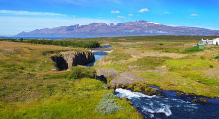 Mountain river panorama.