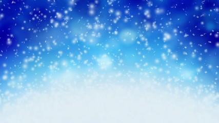 Snowflakes bouncing