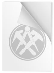 Zunftzeichen Dachdecker auf Din A 4 Blatt