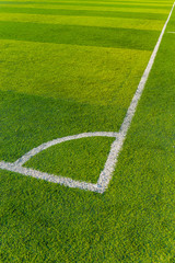 Artificial Turf on a Sports Field