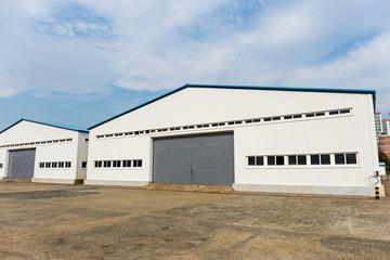 Storage warehouse at outdoor