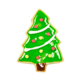 Gingerbread tree isolated, clipping path