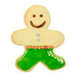 Gingerbread man isolated, clipping path
