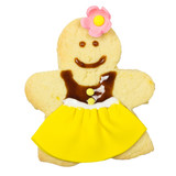 Gingerbread lady isolated, clipping path