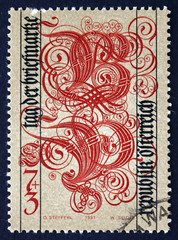 Postage stamp Austria 1991 Letters B and P