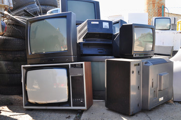 Old TV electronic waste