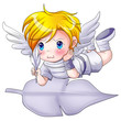 Cartoon illustration of an angel