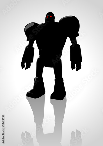 Silhouette illustration of a robot