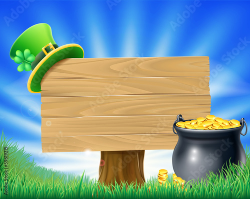 Saint Patricks Day Leprechaun Sign