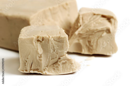 Baker's yeast isolated on white background