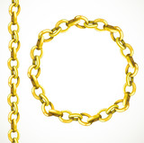 Golden chain seamless line and closed in a circle