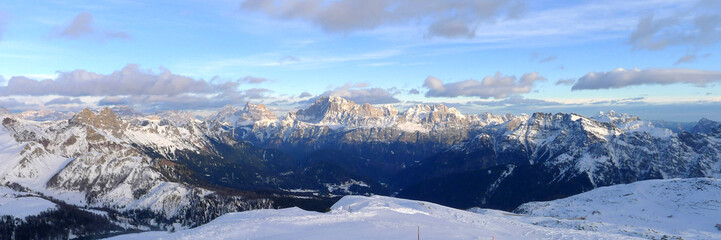 Some views of Dolomiti Alps Italy during winter time..