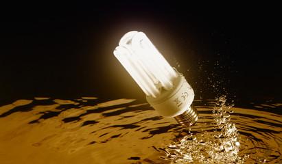 lampadina a basso consumo - risparmio energetico