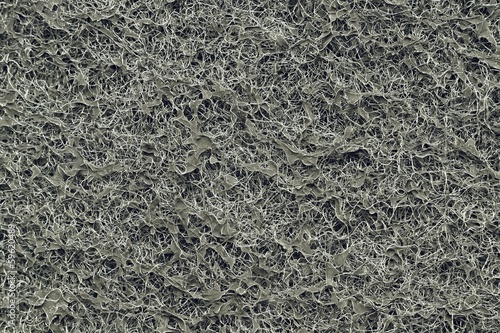 Texture of the black synthetic coal filter