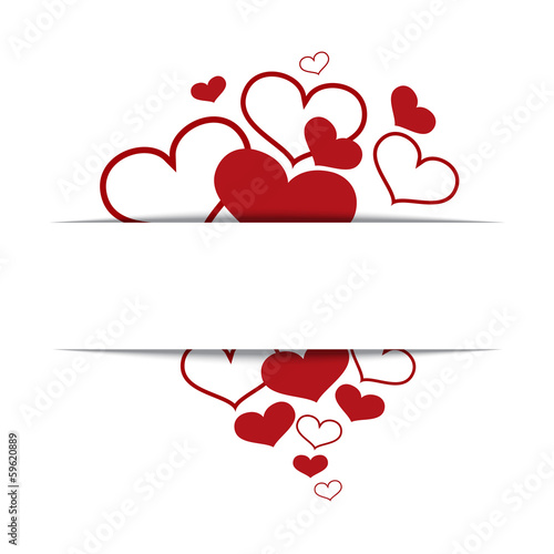 Hearts on a white background, concept love, Valentine's day.