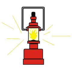 vector drawing of a kerosene lamp