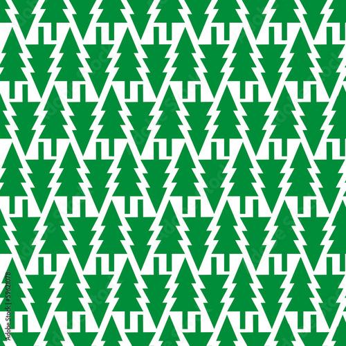 Keuken foto achterwand Vlinders in Grunge Simple seamless pattern background with Christmas trees