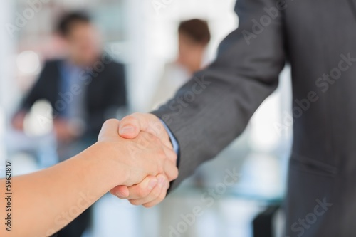 Handshake to seal a deal after a meeting
